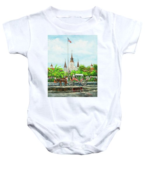 Jackson Square Carriage Baby Onesie