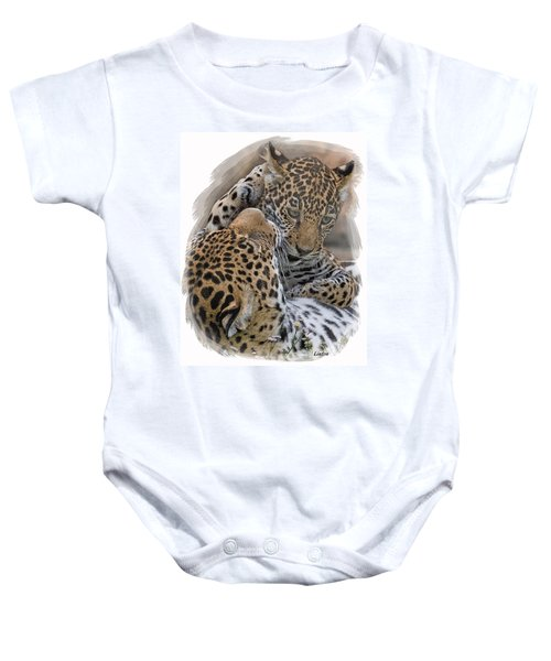 Jaguar Mother And Cub 4 Baby Onesie