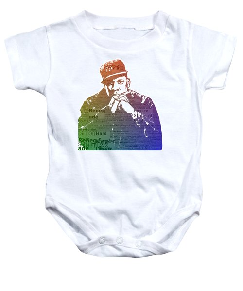 Jay Z Typography Baby Onesie by Dan Sproul