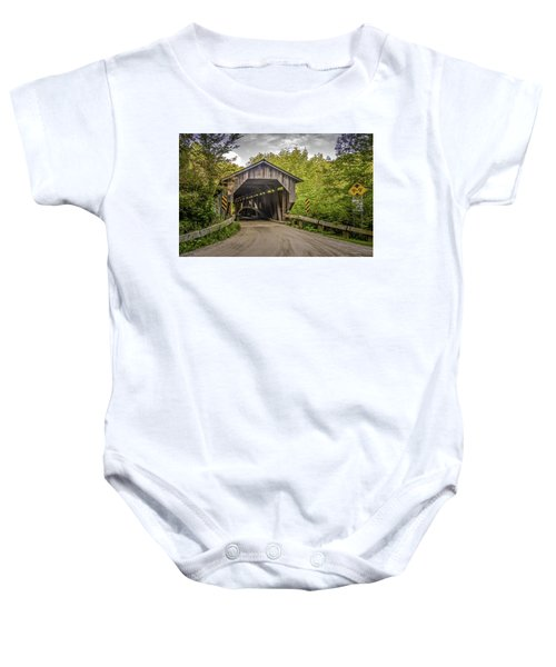 Jeffersonville Covered Bridge Baby Onesie