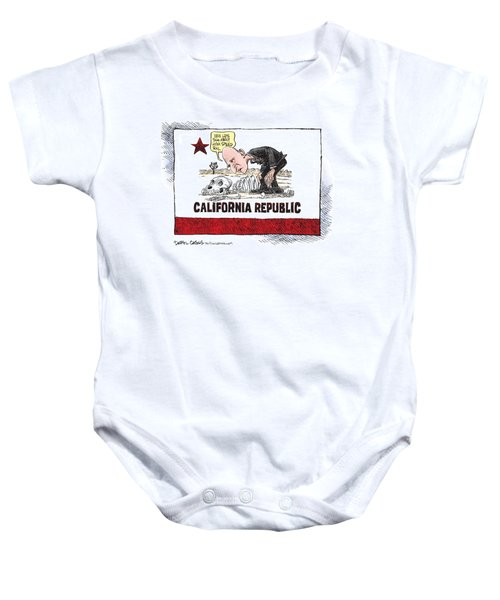 Jerry Brown - California Drought And High Speed Rail Baby Onesie