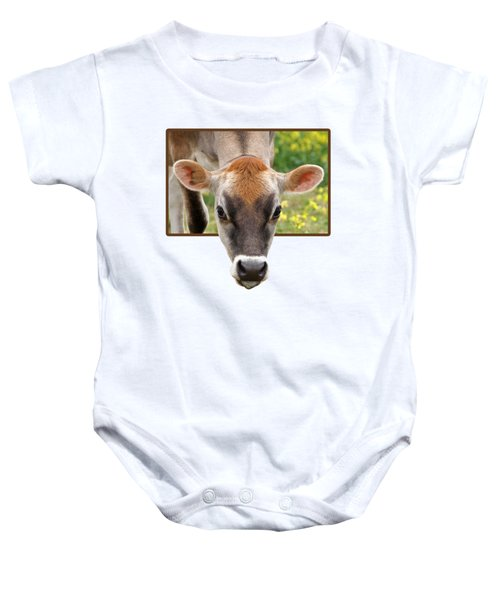 Jersey Fields Of Gold Baby Onesie by Gill Billington