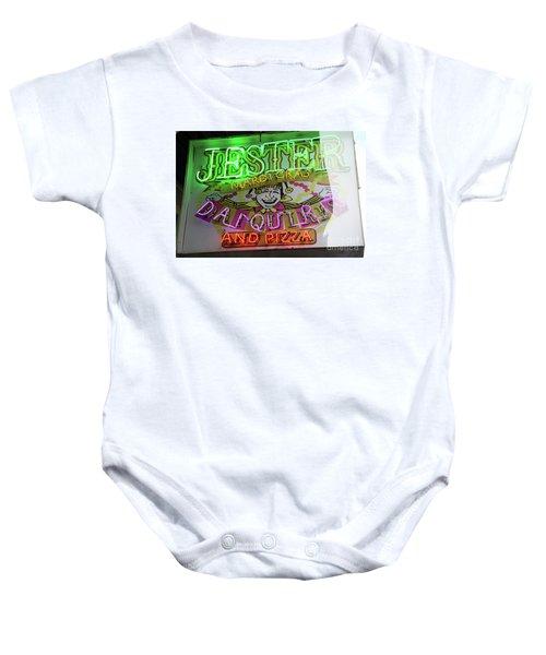 Jester Mardi Gras Sign Baby Onesie