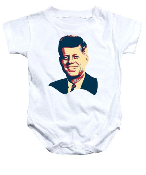 John F Kennedy Color Pop Art Baby Onesie