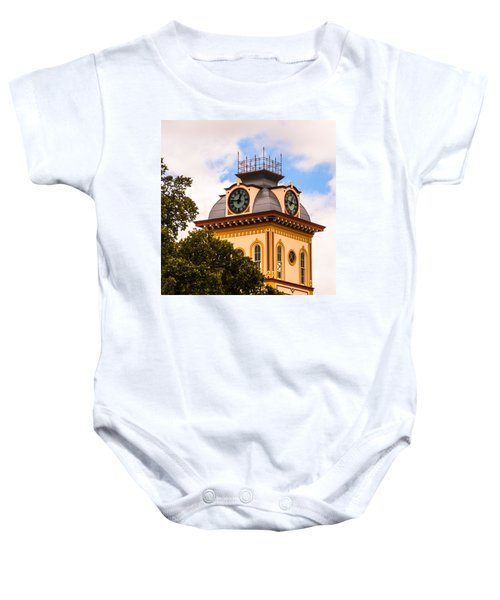 John W. Hargis Hall Clock Tower Baby Onesie