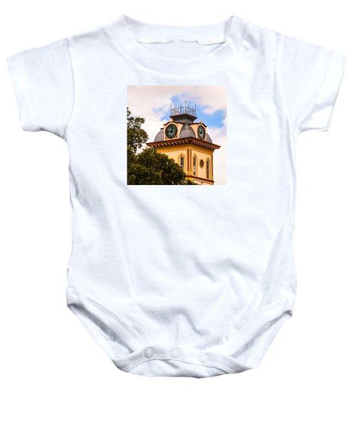John W. Hargis Hall Clock Tower Baby Onesie