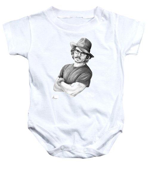 Johnny Depp Baby Onesie by Murphy Elliott