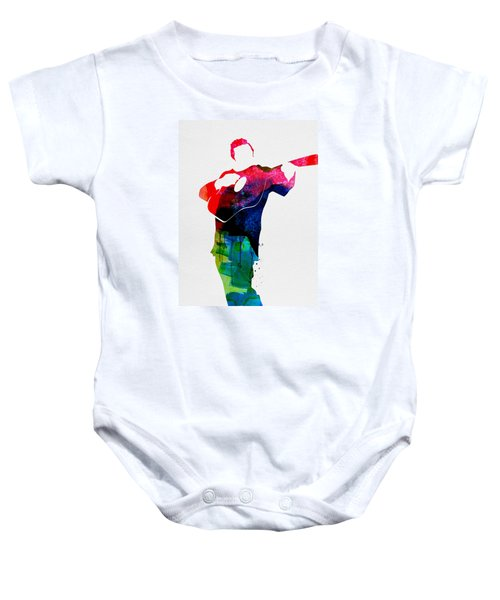 Johnny Watercolor Baby Onesie by Naxart Studio
