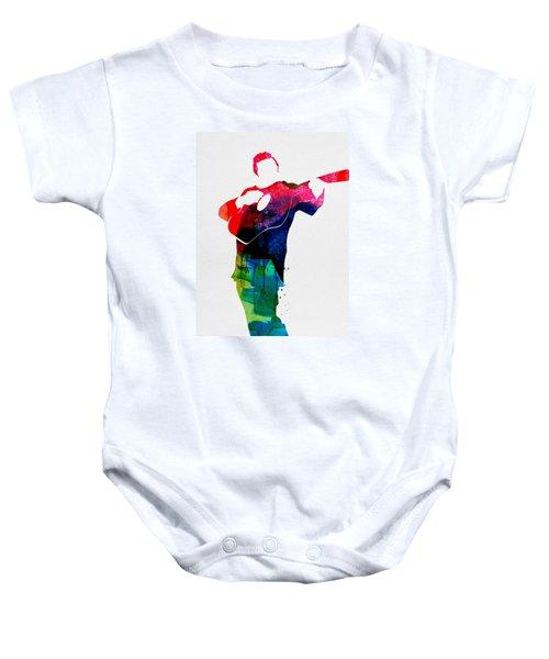 Johnny Watercolor Baby Onesie