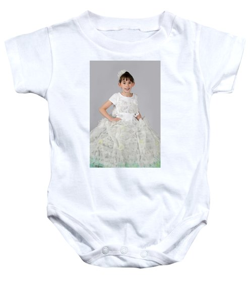 Josette In Dryer Sheet Dress Baby Onesie