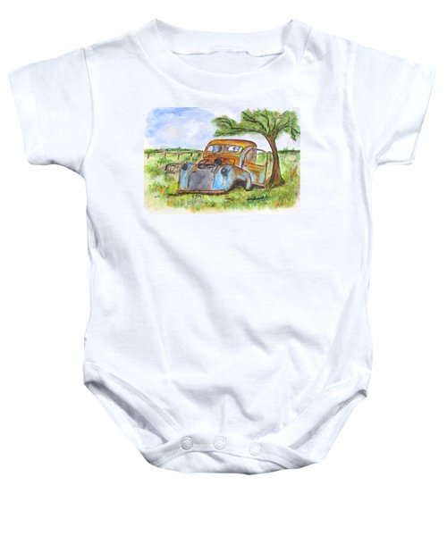Junk Car And Tree Baby Onesie