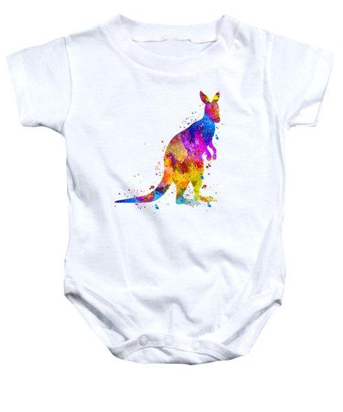 Kangaroo Art Baby Onesie