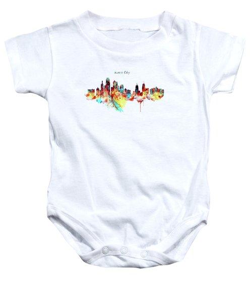 Kansas City Skyline Silhouette Baby Onesie