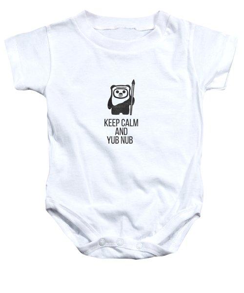Keep Calm And Yub Nub Baby Onesie