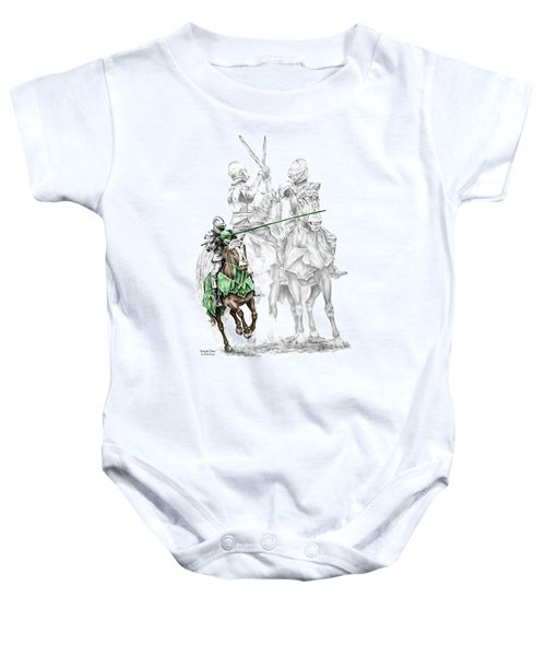 Knight Time - Renaissance Medieval Print Color Tinted Baby Onesie