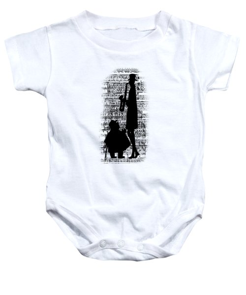 Knowing The Score Transparent Background Baby Onesie