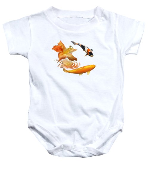 Koi With Azalea Ripples Baby Onesie