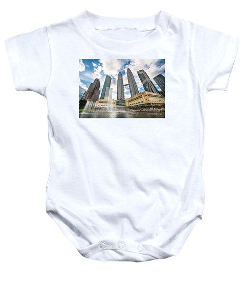 Kuala Lumpur Petronas Towers Baby Onesie