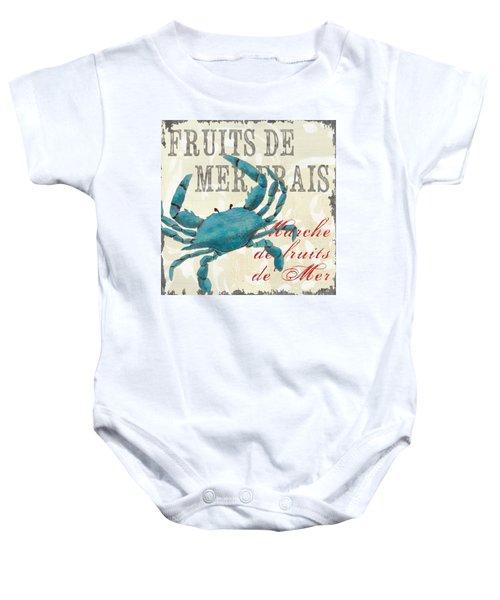 La Mer Shellfish 1 Baby Onesie