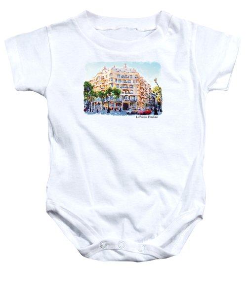 La Pedrera Barcelona Baby Onesie by Marian Voicu