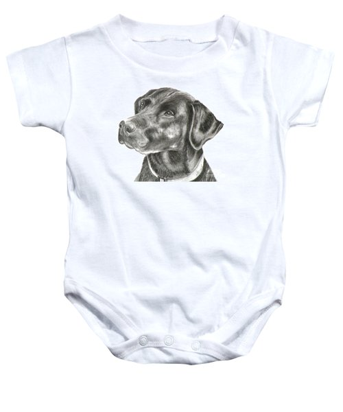Lab Charcoal Drawing Baby Onesie