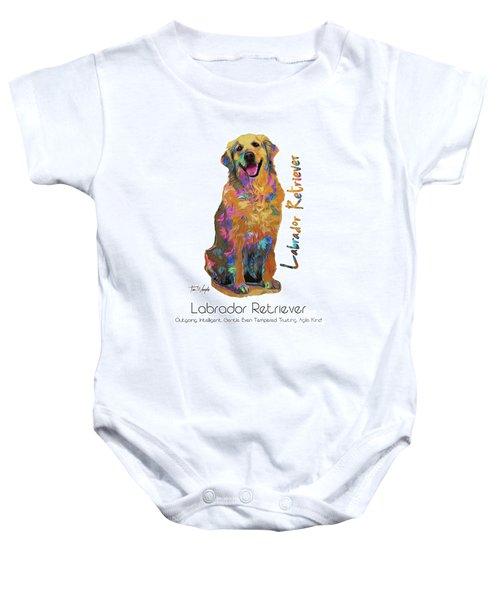 Labrador Retriever Pop Art Baby Onesie