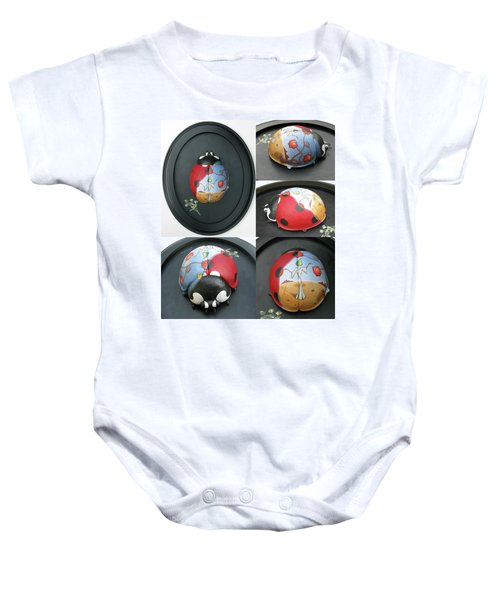 Ladybug On The Half Shell Baby Onesie