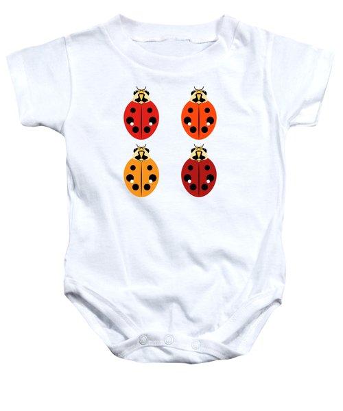 Ladybug Quartet Baby Onesie
