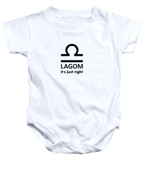 Lagom - Just Right Baby Onesie