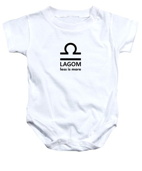 Lagom - Less Is More I Baby Onesie