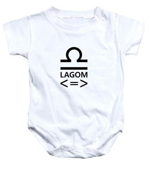 Lagom - Less Is More II Baby Onesie
