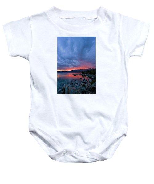 Lake Tahoe Sunset Portrait 2 Baby Onesie