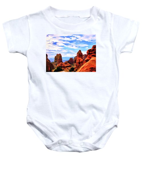 Land Of Moab - Watercolor Baby Onesie