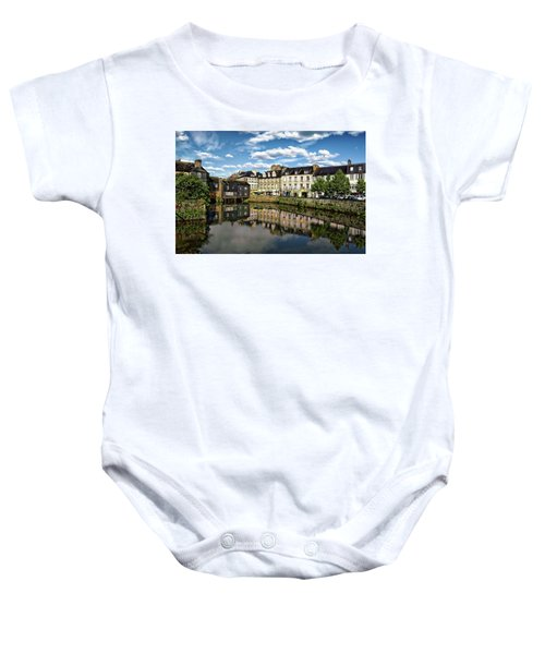 Landerneau Village View Baby Onesie