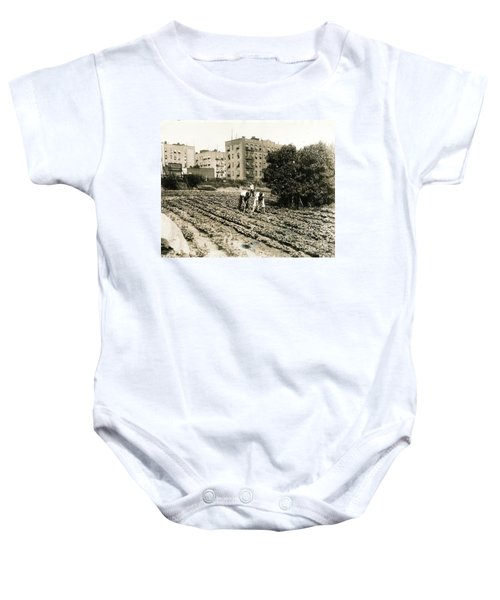 Last Working Farm In Manhattan Baby Onesie