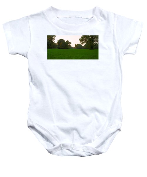 Late Afternoon In The Park Baby Onesie