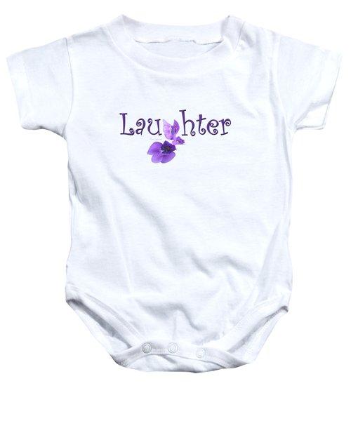 Laughter Shirt Baby Onesie