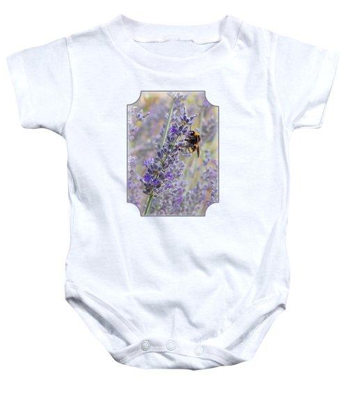 Lavender Bee Baby Onesie