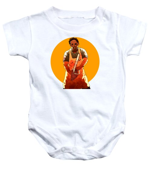 Baby Onesie featuring the drawing Leatherface by Jorgo Photography - Wall Art Gallery