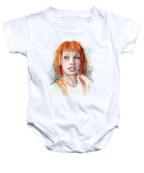 Leeloo Portrait Multipass The Fifth Element Baby Onesie