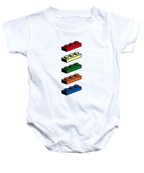 Baby Onesie featuring the photograph Lego T-shirt Pop Art by Edward Fielding