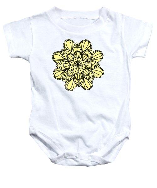 Lemon Lily Mandala Baby Onesie