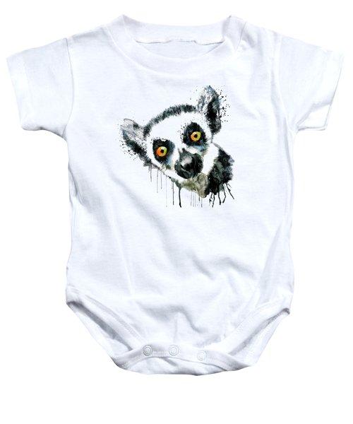 Lemur Head  Baby Onesie