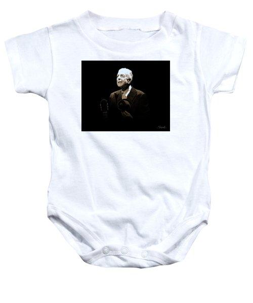 Portrait Of Leonard Cohen Baby Onesie