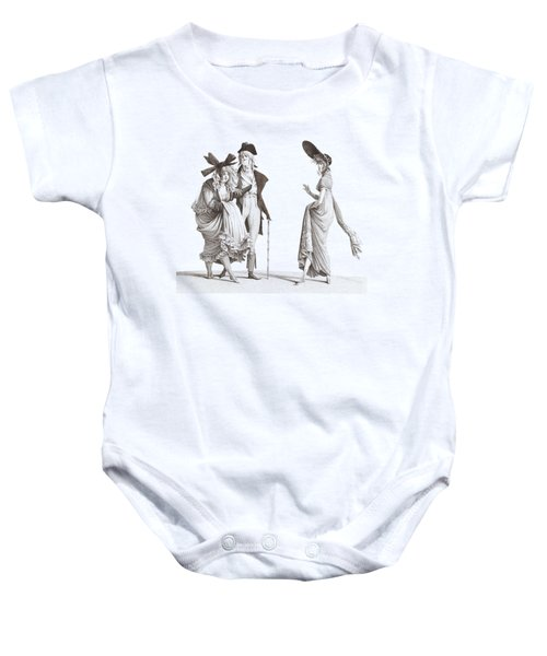 Les Merveilleuses Antique French Fashion Baby Onesie