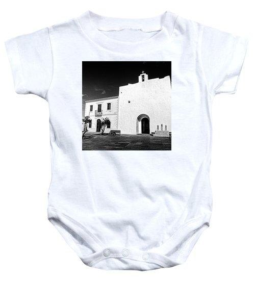 Fortified Church, Formentera Baby Onesie by John Edwards