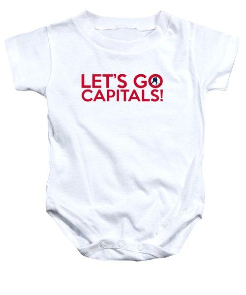 Let's Go Capitals Baby Onesie