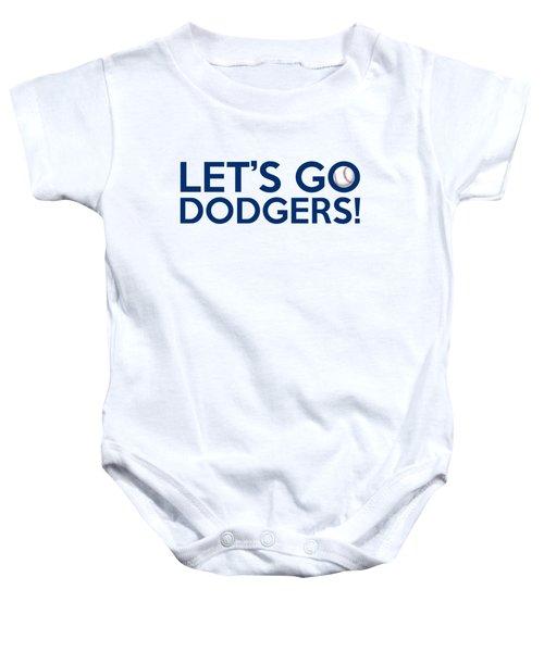 Let's Go Dodgers Baby Onesie by Florian Rodarte