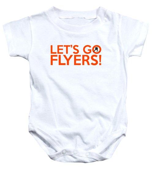 Let's Go Flyers Baby Onesie by Florian Rodarte