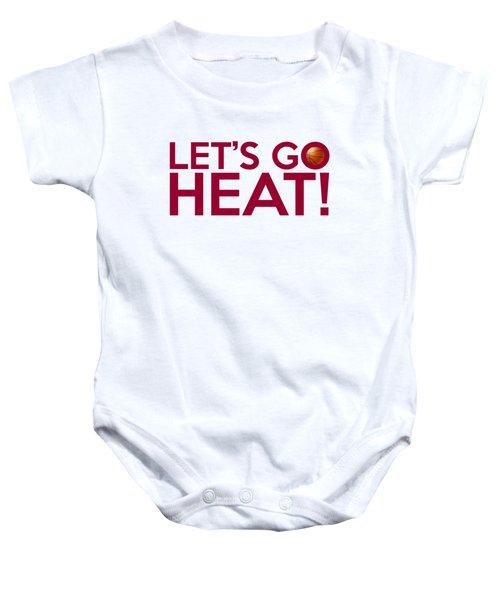 Let's Go Heat Baby Onesie